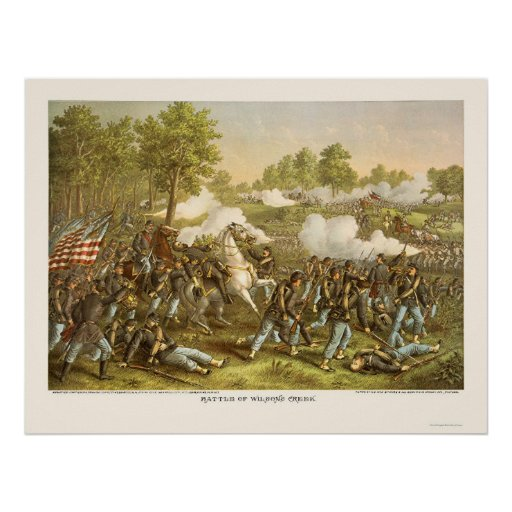 Battle of Wilson's Creek by Kurz and Allison 1861 Poster