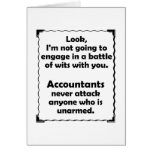 Battle of Wits Accountant Stationery Note Card