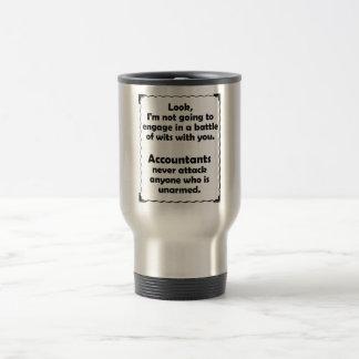 Battle of Wits Accountant Travel Mug