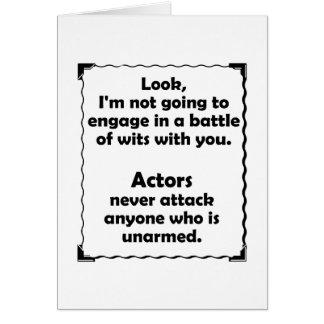 Battle of Wits Actors Card