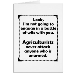 Battle of Wits Agriculturist Card