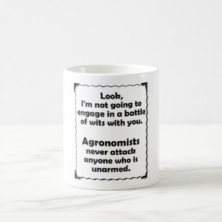 Battle of Wits Agronomists Classic White Coffee Mug