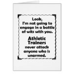 Battle of Wits Athletic Trainer Greeting Cards