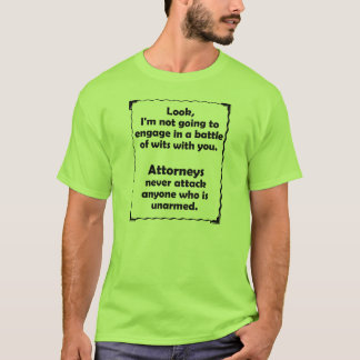 Battle of Wits Attorney T-Shirt