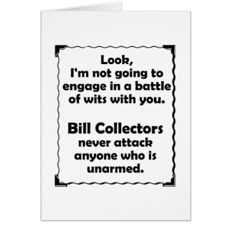Battle of Wits Bill Collector Cards