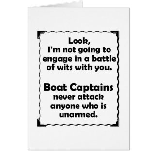 Battle of Wits Boat Captains Card