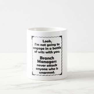 Battle of Wits Branch Manager Coffee Mug