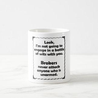 Battle of Wits Broker Coffee Mug