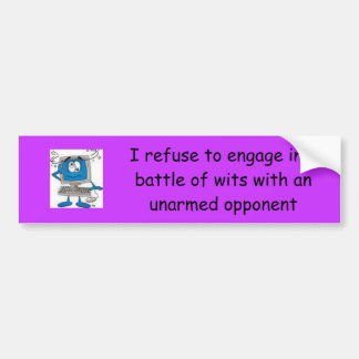 Battle of Wits Bumper Sticker