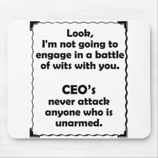 Battle of Wits CEO Mouse Pad