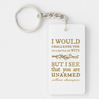 Battle of Wits Challenge Key Chains