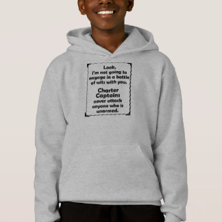 Battle of Wits Charter Captain Hoodie