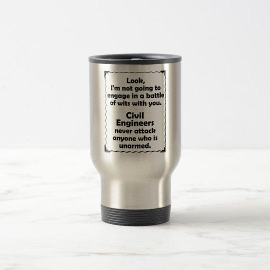 Battle of Wits Civil Engineers Travel Mug
