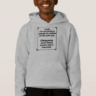 Battle of Wits Clergyman Hoodie