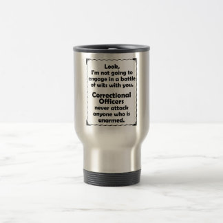 Battle of Wits Correctional Officer Travel Mug
