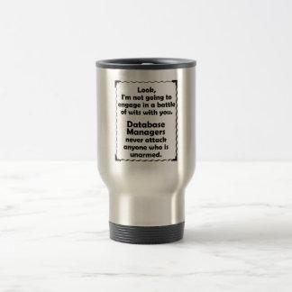 Battle of Wits Database Manager Travel Mug