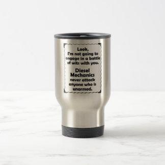 Battle of Wits Diesel Mechanic Travel Mug