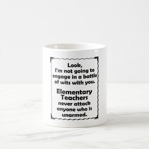 Battle of Wits Elementary Teacher Coffee Mugs
