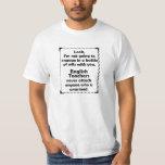 Battle of Wits English Teacher T Shirt