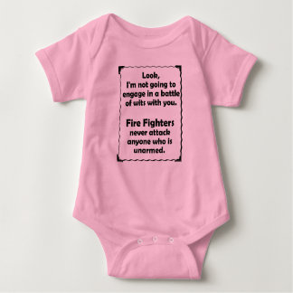 Battle of Wits Fire Fighter Baby Bodysuit