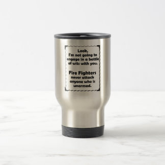 Battle of Wits Fire Fighter 15 Oz Stainless Steel Travel Mug