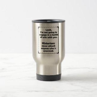 Battle of Wits Historian Coffee Mugs