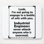 Battle of Wits Industrial Engineer Mouse Pad