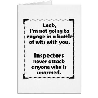 Battle of Wits Inspector Greeting Card