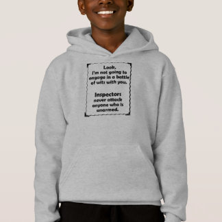 Battle of Wits Inspector Hoodie