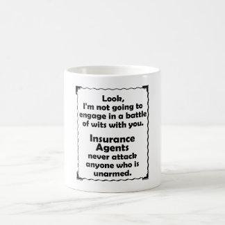 Battle of Wits Insurance Agent Coffee Mug