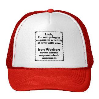 Battle of Wits Iron Worker Trucker Hat