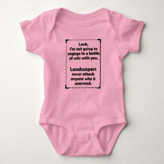 Battle of Wits Landscaper Baby Bodysuit