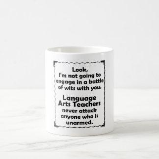 Battle of Wits Language Arts Teacher Coffee Mug