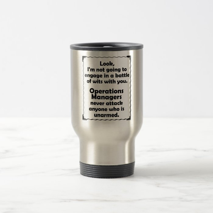 Battle of Wits Operations Manager Travel Mug