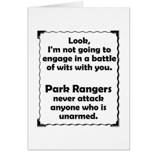 Battle of Wits Park Rangers Card