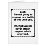 Battle of Wits Receptionist Cards