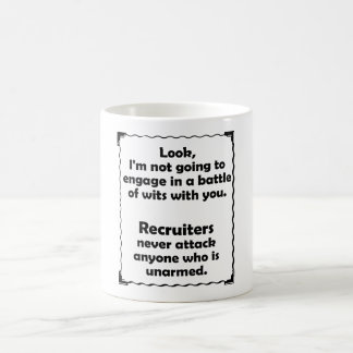 Battle of Wits Recruiter Mug