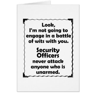 Battle of Wits Security Officer Card