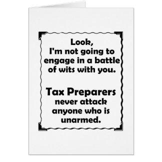 Battle of Wits Tax Preparers Card
