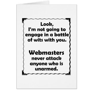 Battle of Wits Webmaster Stationery Note Card
