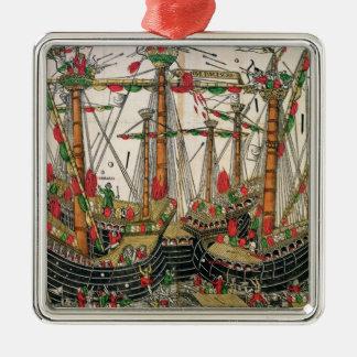 Battle of Zonchio, 1499 Metal Ornament