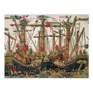 Battle of Zonchio, 1499 Postcard