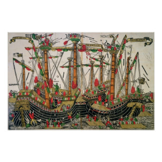 Battle of Zonchio, 1499 Poster