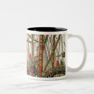 Battle of Zonchio, 1499 Two-Tone Coffee Mug