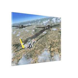 Battle over Italy P-51 Mustang Canvas Print