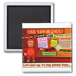Battle Plan Christian Gift 2 Inch Square Magnet