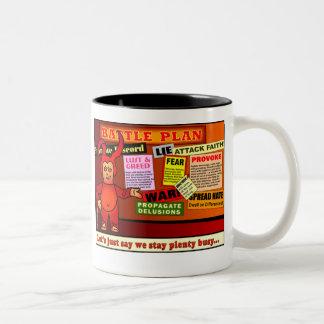 Battle Plan Christian Gift Two-Tone Coffee Mug