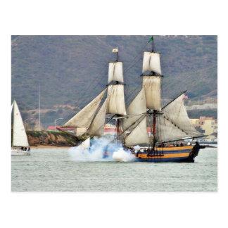 Battle Reenactment At The San Deigo Maritime Museu Postcard