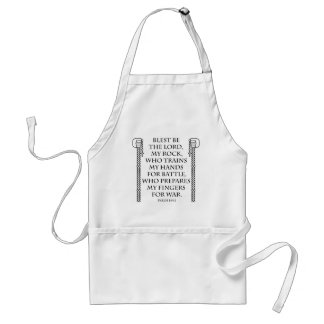 Battle Rosary Double in Black Adult Apron