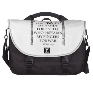 Battle Rosary Double in Black Commuter Bag